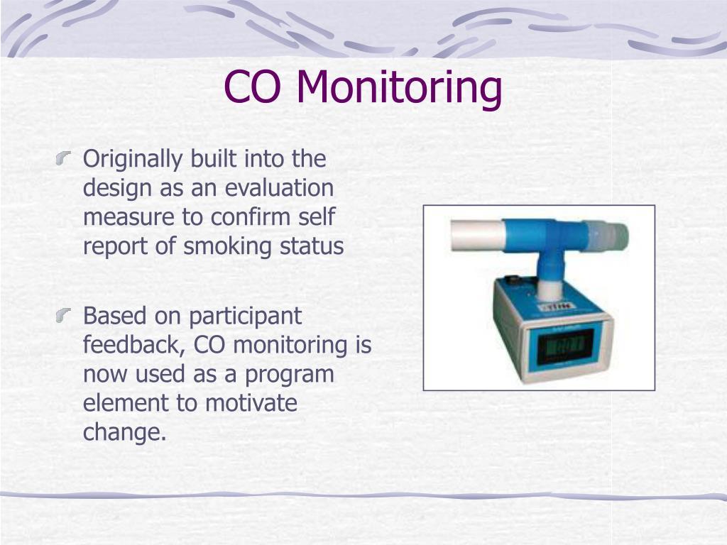 Originally built into the design as an evaluation measure to confirm self report of smoking status