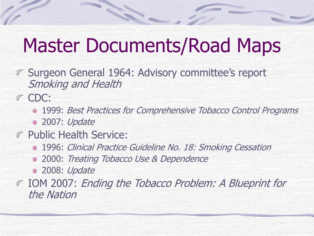 Master Documents/Road Maps