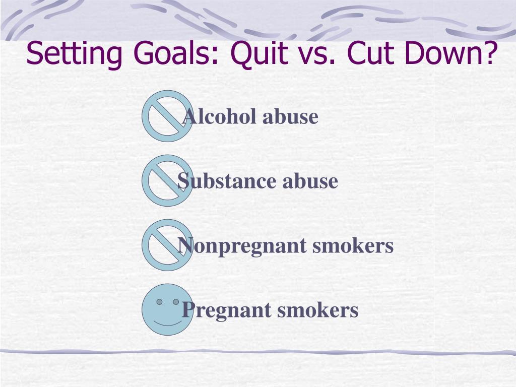 Setting Goals: Quit vs. Cut Down?