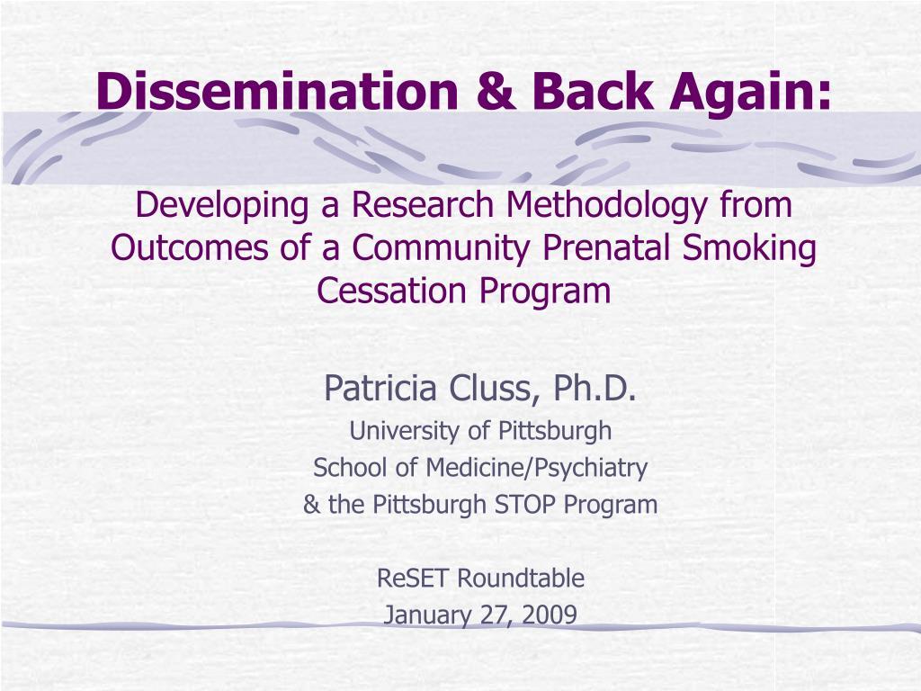 Dissemination & Back Again: