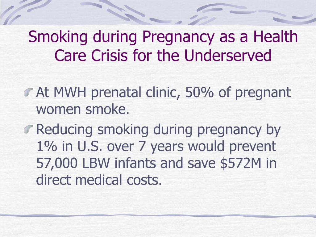 Smoking during Pregnancy as a Health Care Crisis for the Underserved