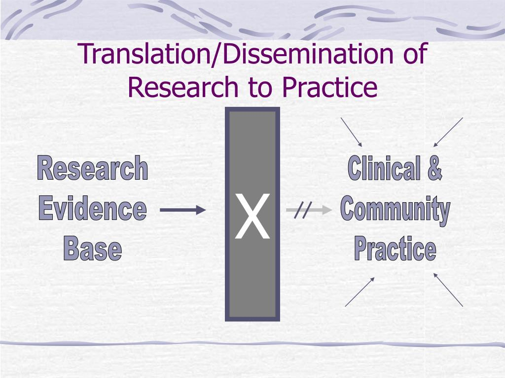 Translation/Dissemination of Research to Practice