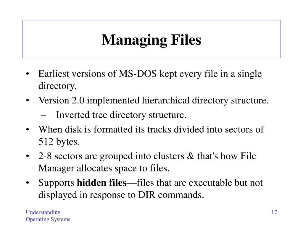 Managing Files