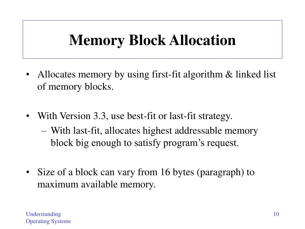Memory Block Allocation