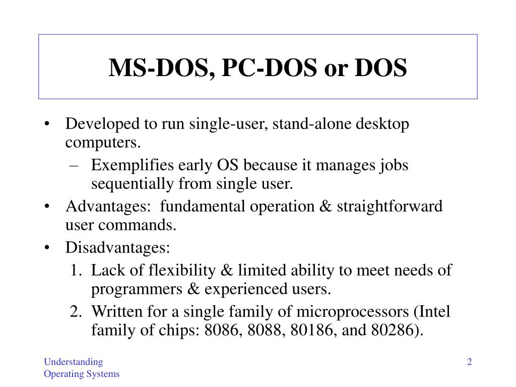 MS-DOS, PC-DOS or DOS