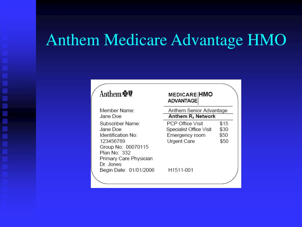 Anthem Medicare Advantage HMO