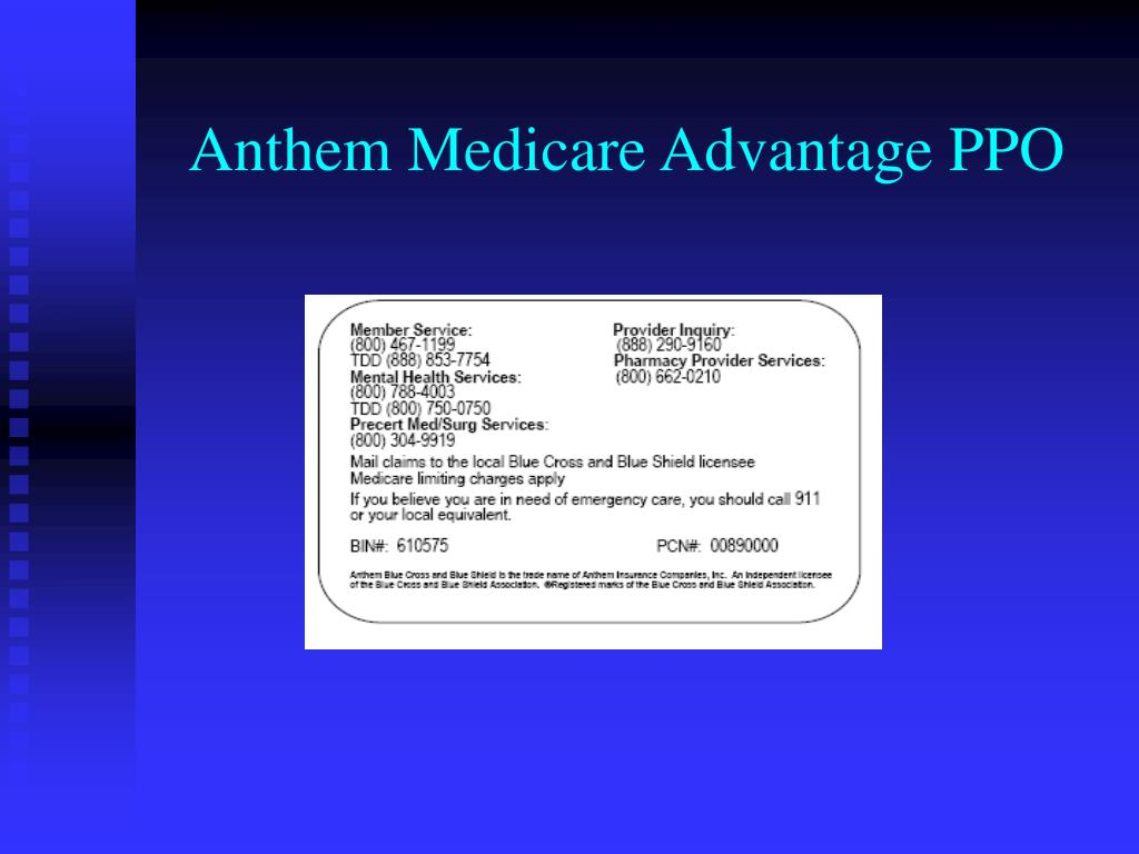 Anthem Medicare Advantage PPO