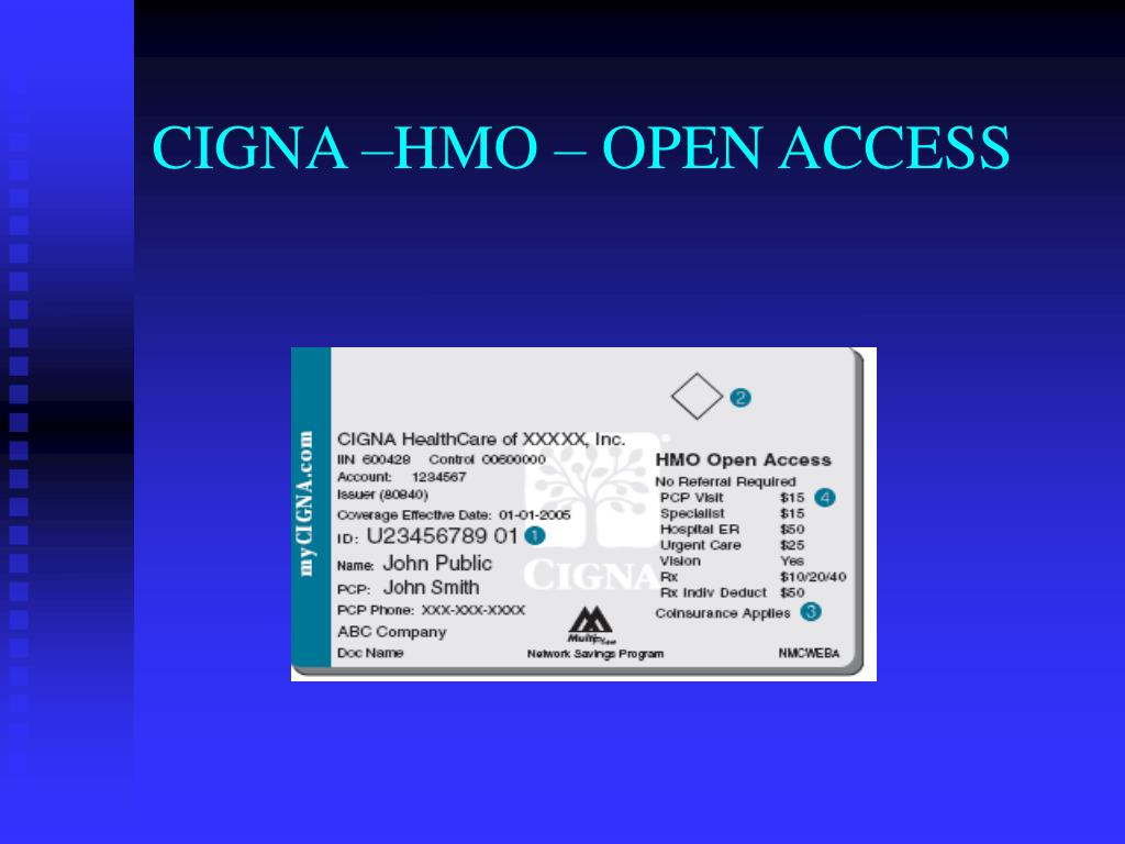 CIGNA –HMO – OPEN ACCESS