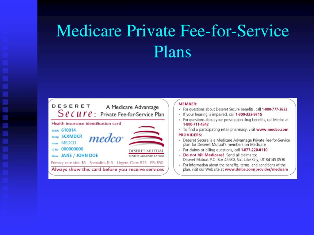 Medicare Private Fee-for-Service Plans