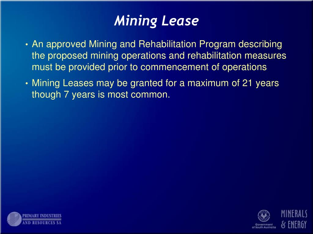 Mining Lease