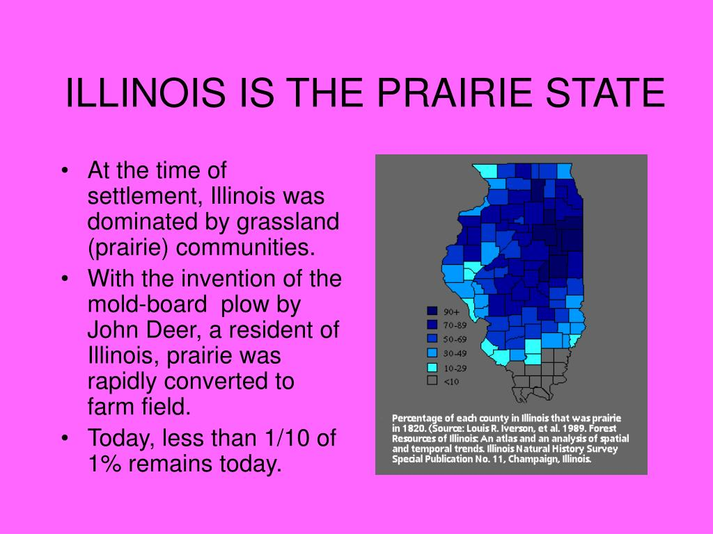 ILLINOIS IS THE PRAIRIE STATE