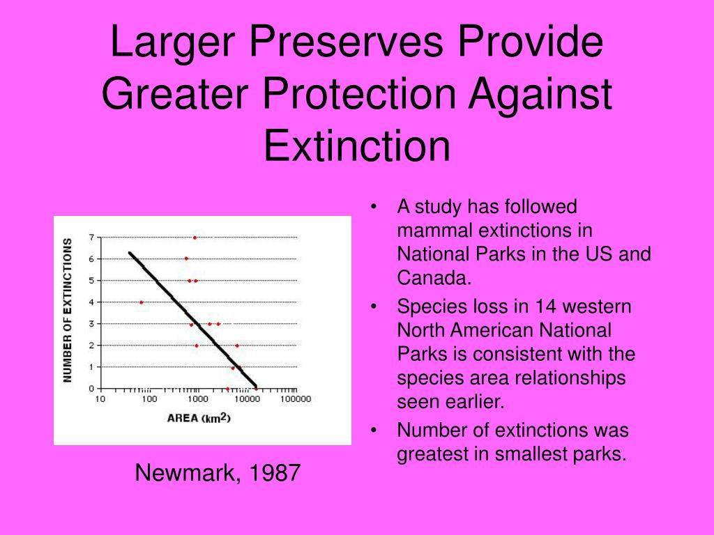 Larger Preserves Provide Greater Protection Against Extinction