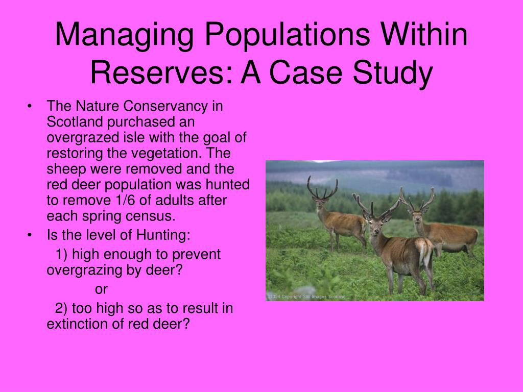 Managing Populations Within Reserves: A Case Study