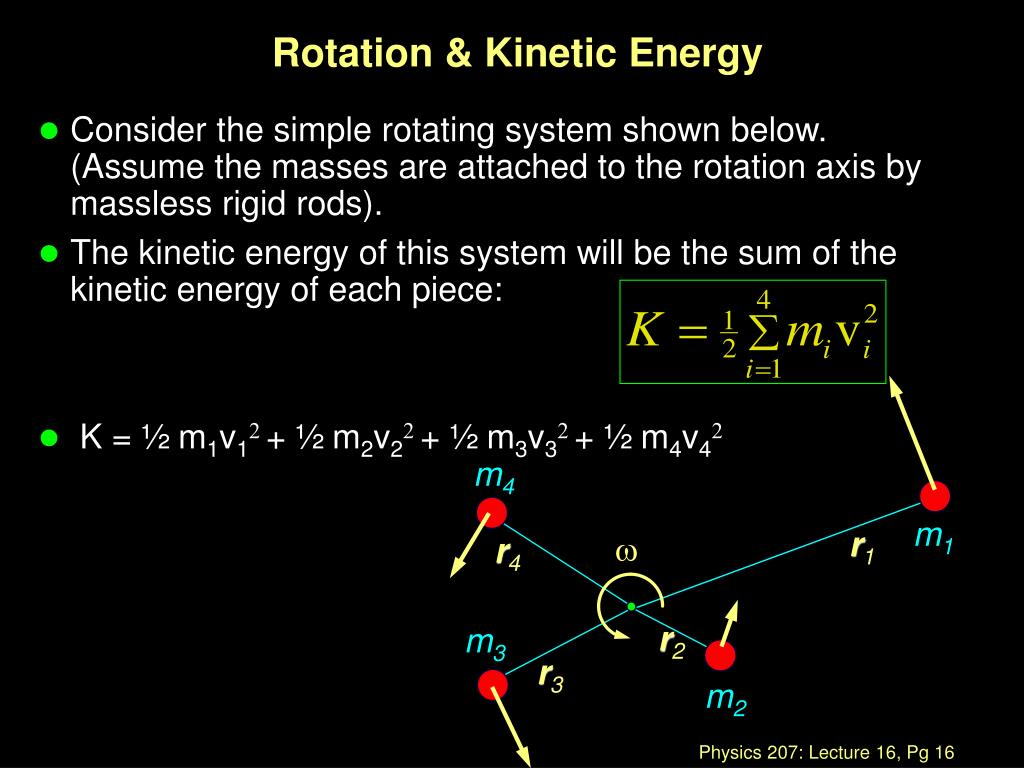 Rotation & Kinetic Energy
