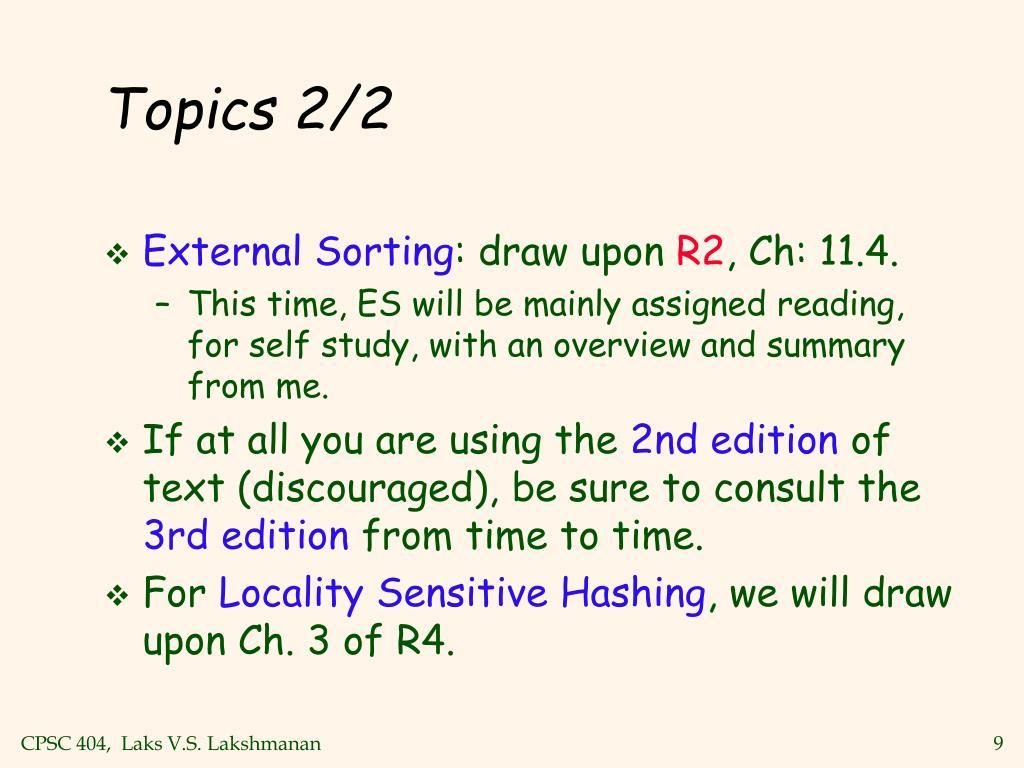 Topics 2/2