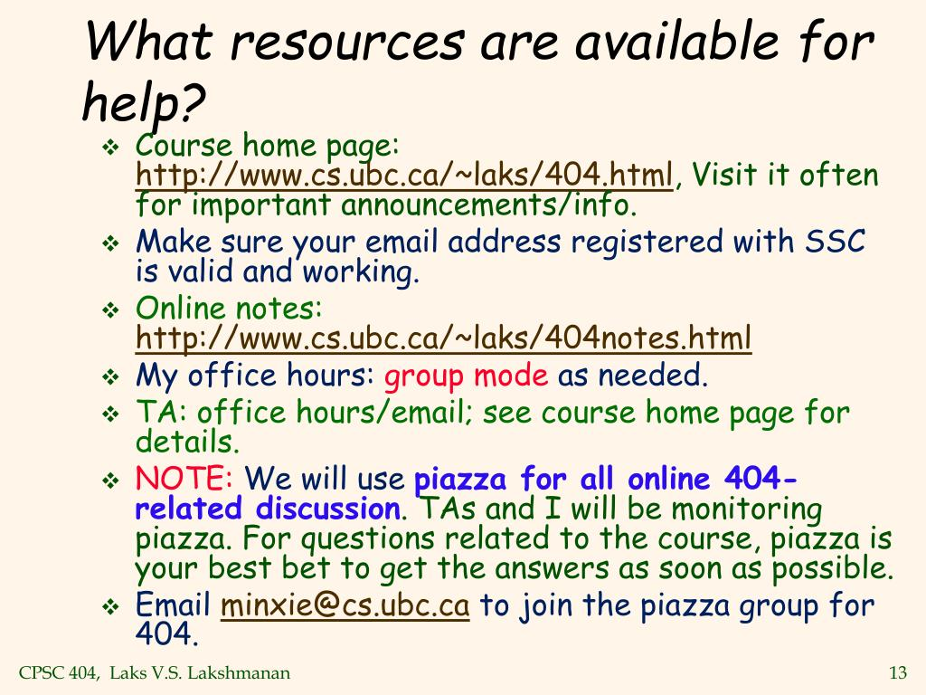 What resources are available for help?