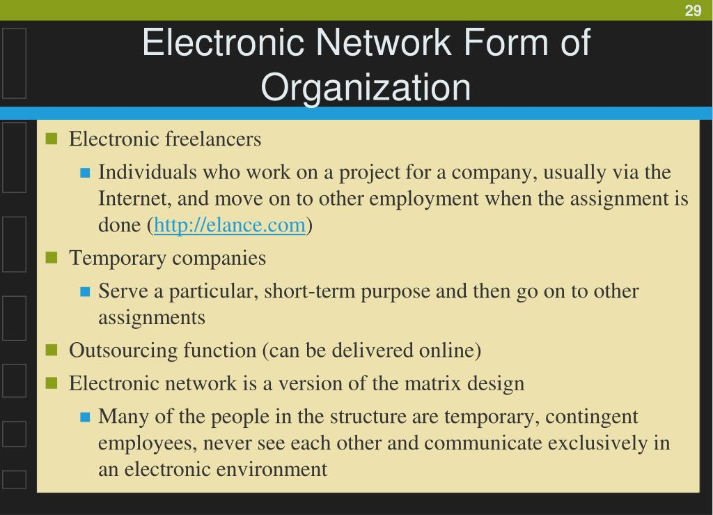 Electronic Network Form of Organization