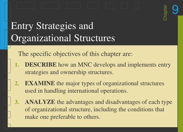 Entry strategies and organizational structures l.jpg