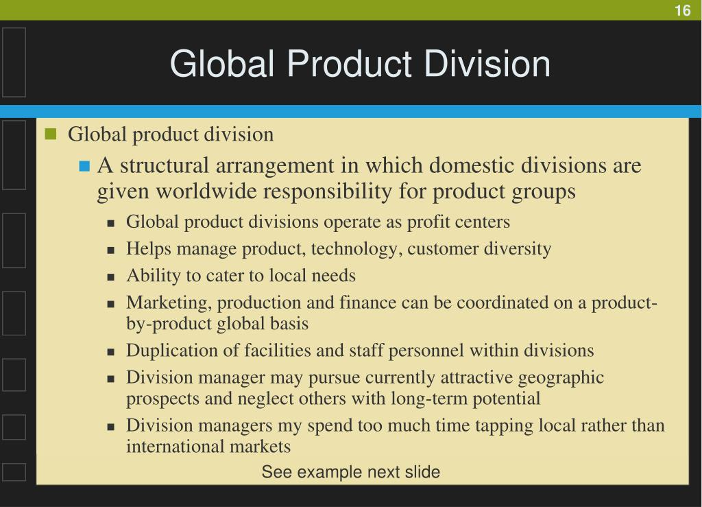 Global Product Division