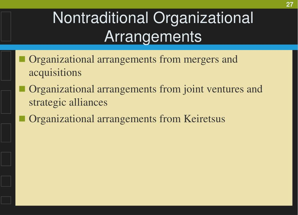 Nontraditional Organizational Arrangements