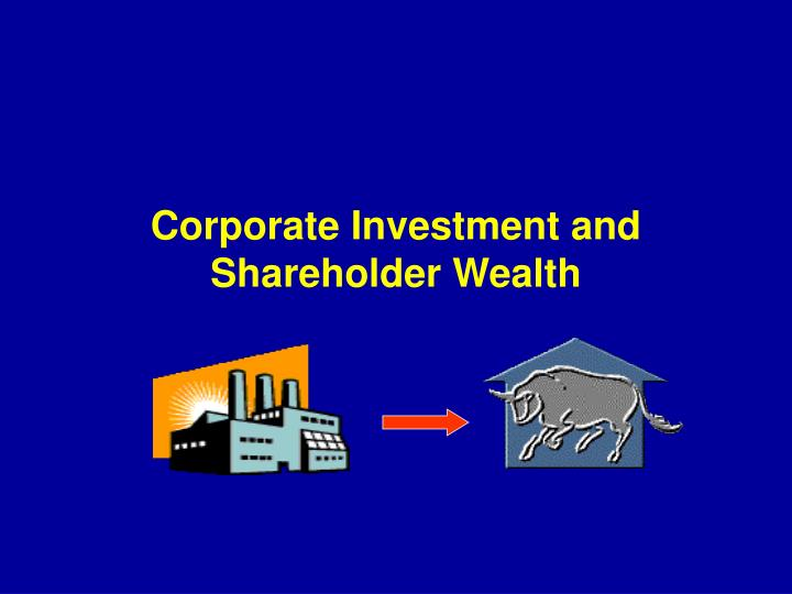 Corporate investment and shareholder wealth l.jpg