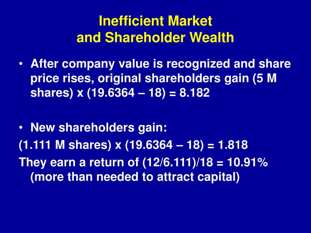 Inefficient Market