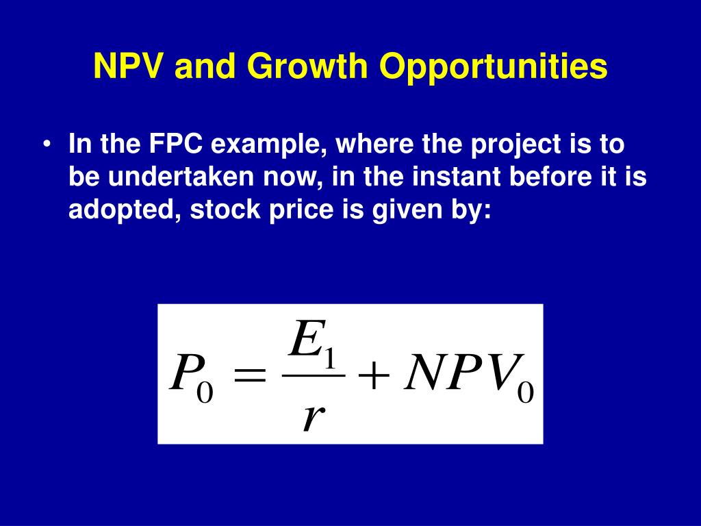 NPV and Growth Opportunities