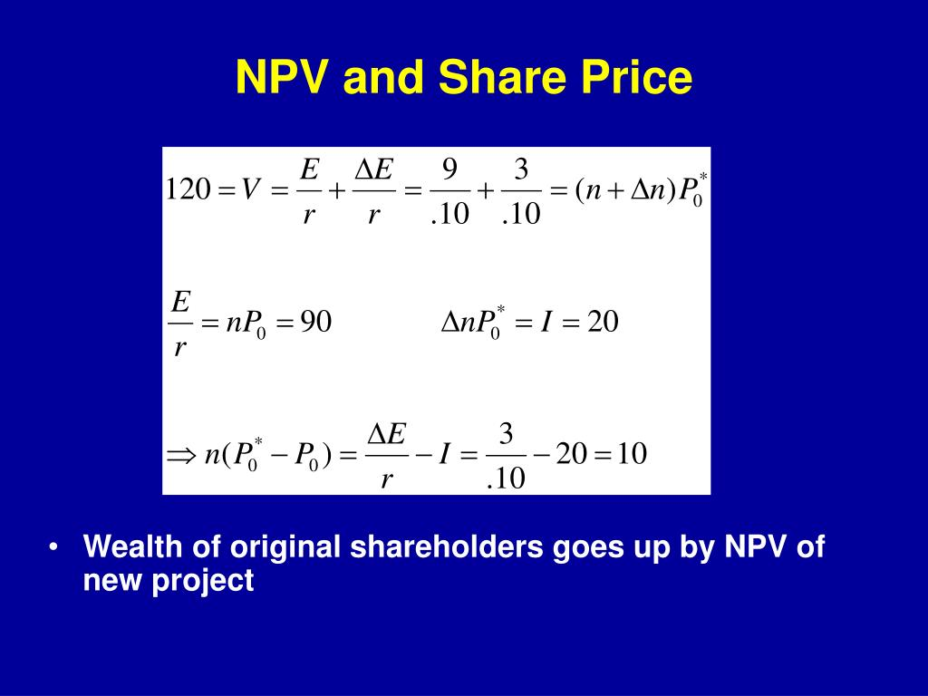 NPV and Share Price