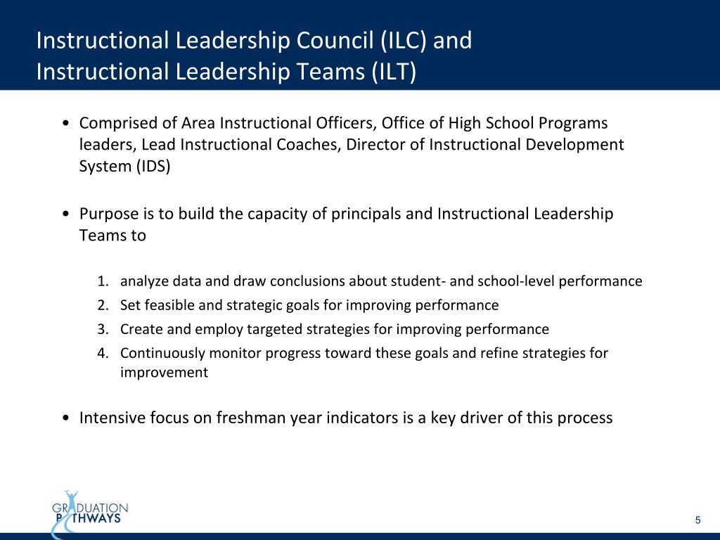 Instructional Leadership Council (ILC) and