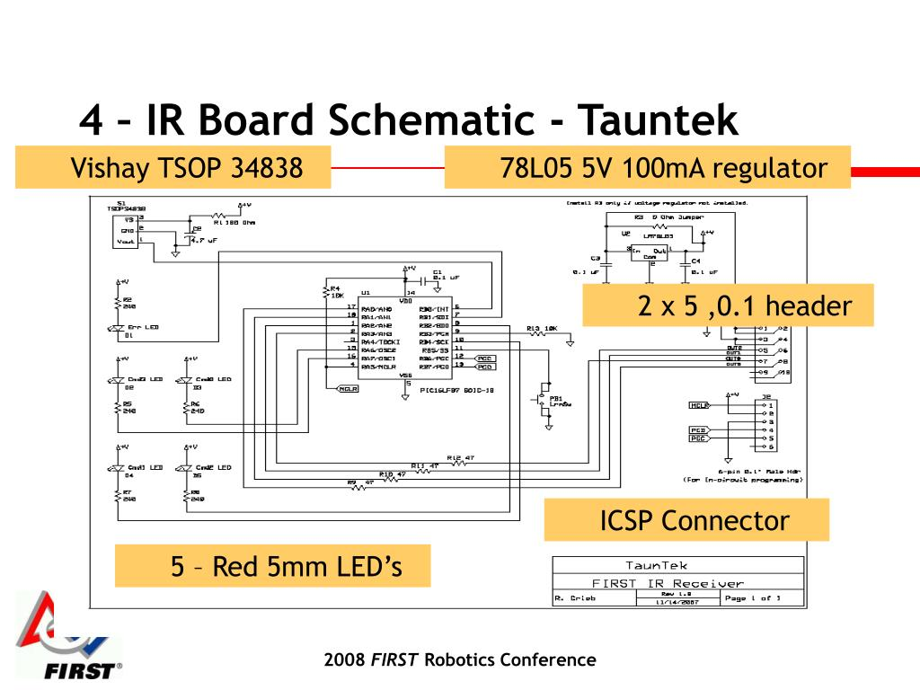 4 – IR Board Schematic - Tauntek