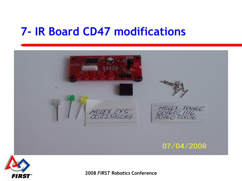 7- IR Board CD47 modifications