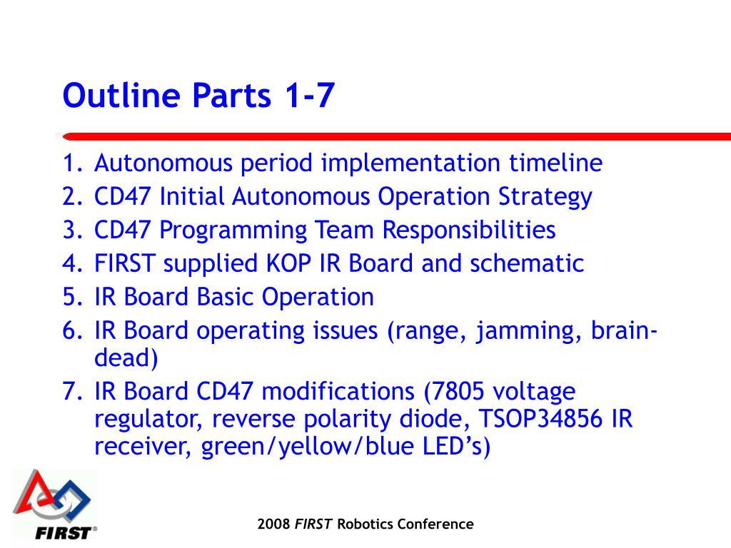 Outline Parts 1-7