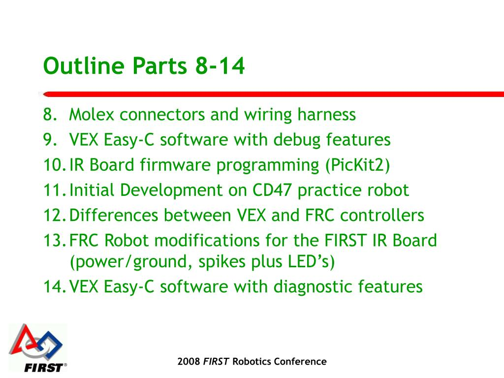 Outline Parts 8-14