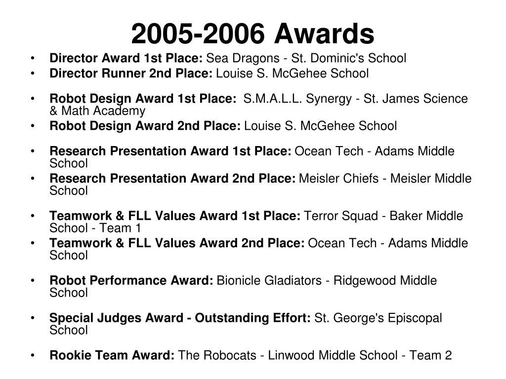 2005-2006 Awards