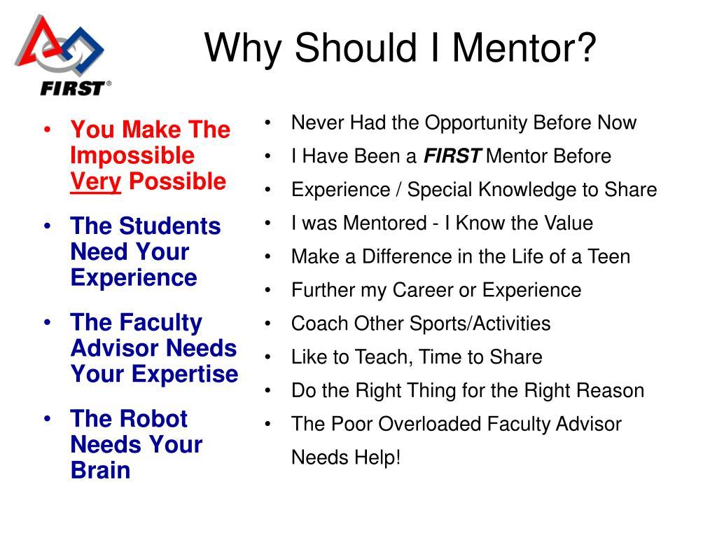 Why Should I Mentor?