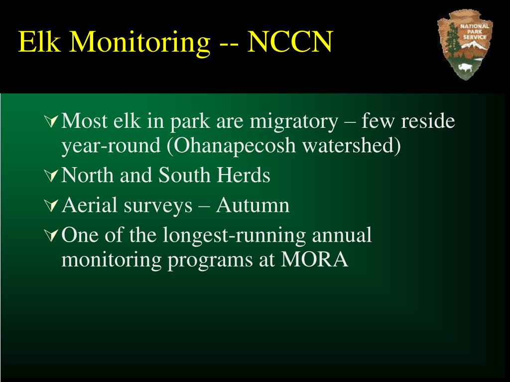 Elk Monitoring -- NCCN