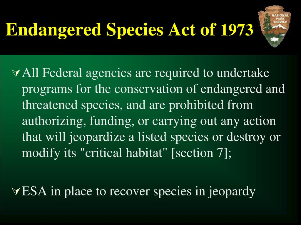 Endangered Species Act of