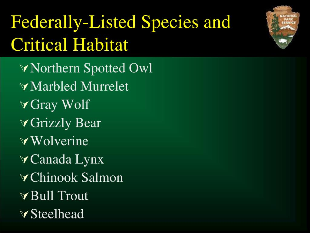 Federally-Listed Species and Critical Habitat