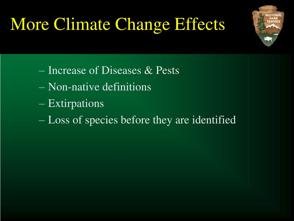 More Climate Change Effects