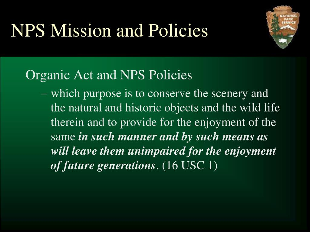 NPS Mission and Policies