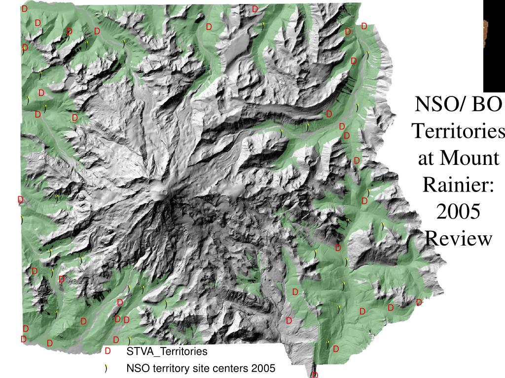 NSO/ BO Territories at Mount Rainier: