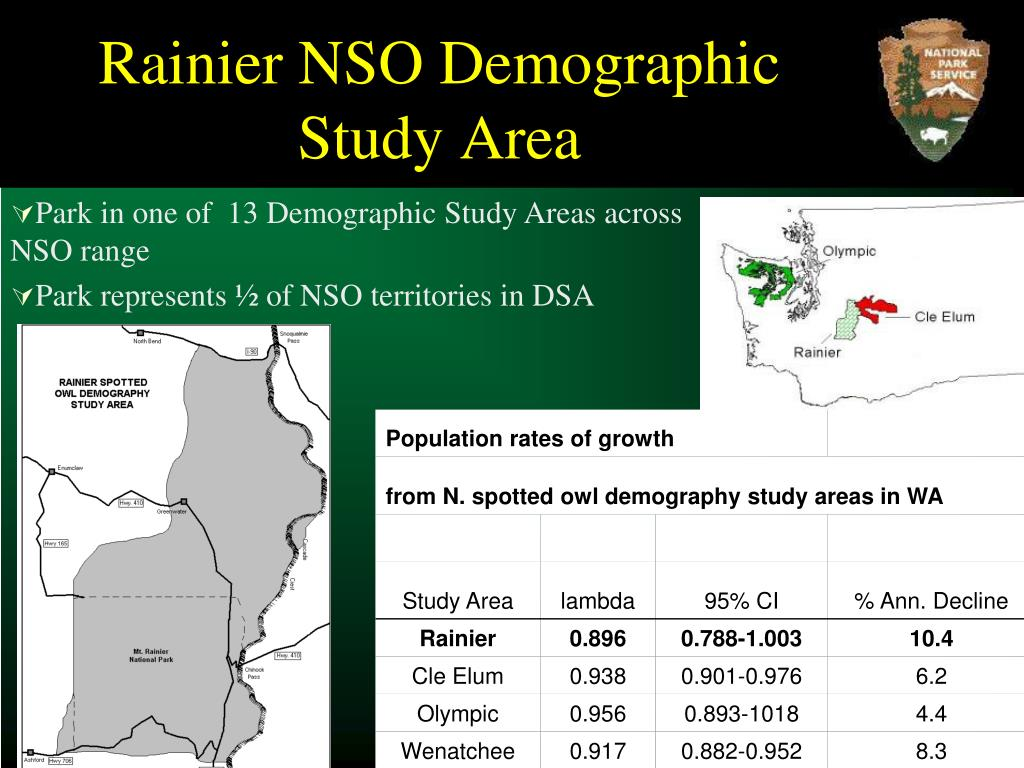 Rainier NSO Demographic Study Area
