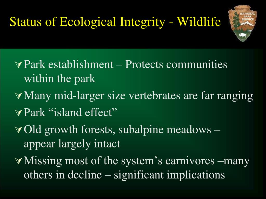Status of Ecological Integrity - Wildlife