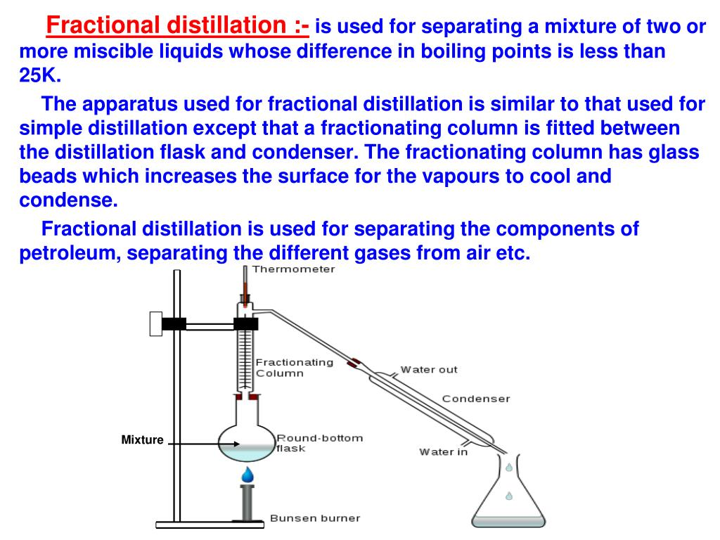 simple and fractional distillation experiment In this experiment you will separate a mixture of toluene and cyclohexane by simple and fractional distillation never run a distillation experiment.
