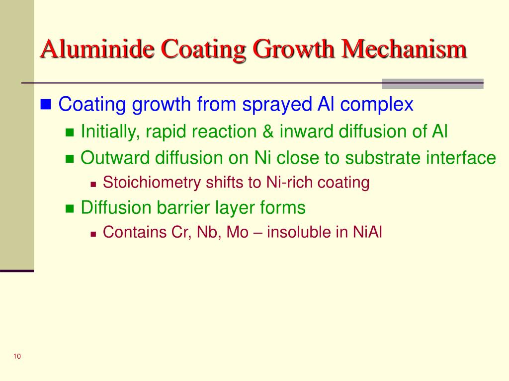 Aluminide Coating Growth Mechanism