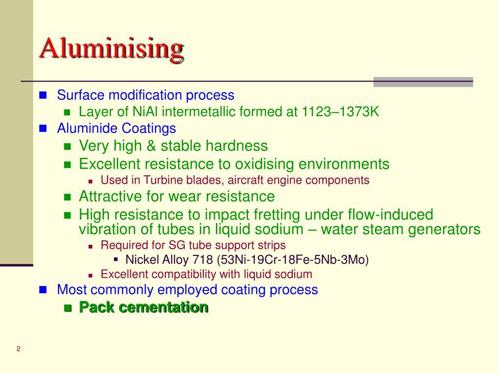 Aluminising