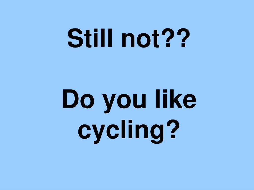 Still not??