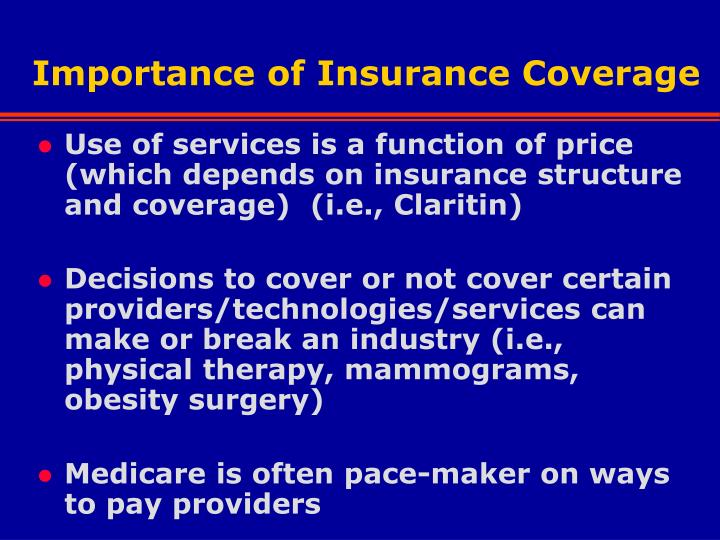 Importance of Insurance Coverage
