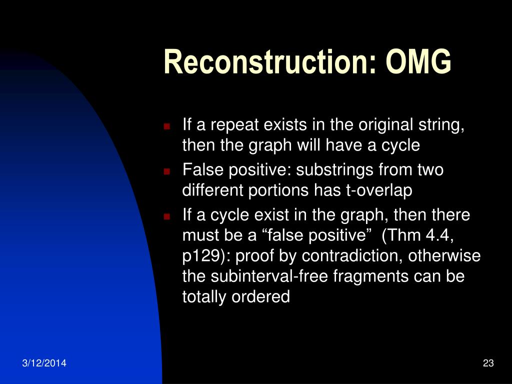 Reconstruction: OMG