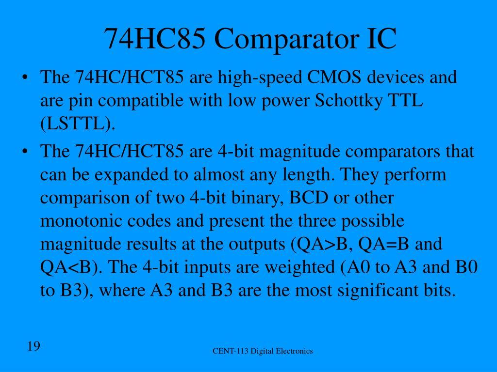 74HC85 Comparator IC